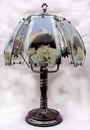 Eagle Wolf Touch Lamp