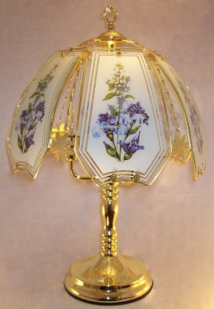 Blue Flowers Touch Lamp 2