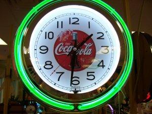 Coca Cola Neon Clock Free Shpping