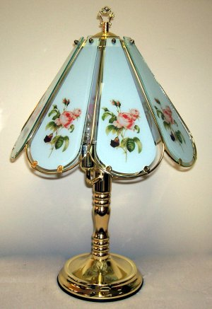 Rose, Antique Design, 8-Panel Touch Lamp