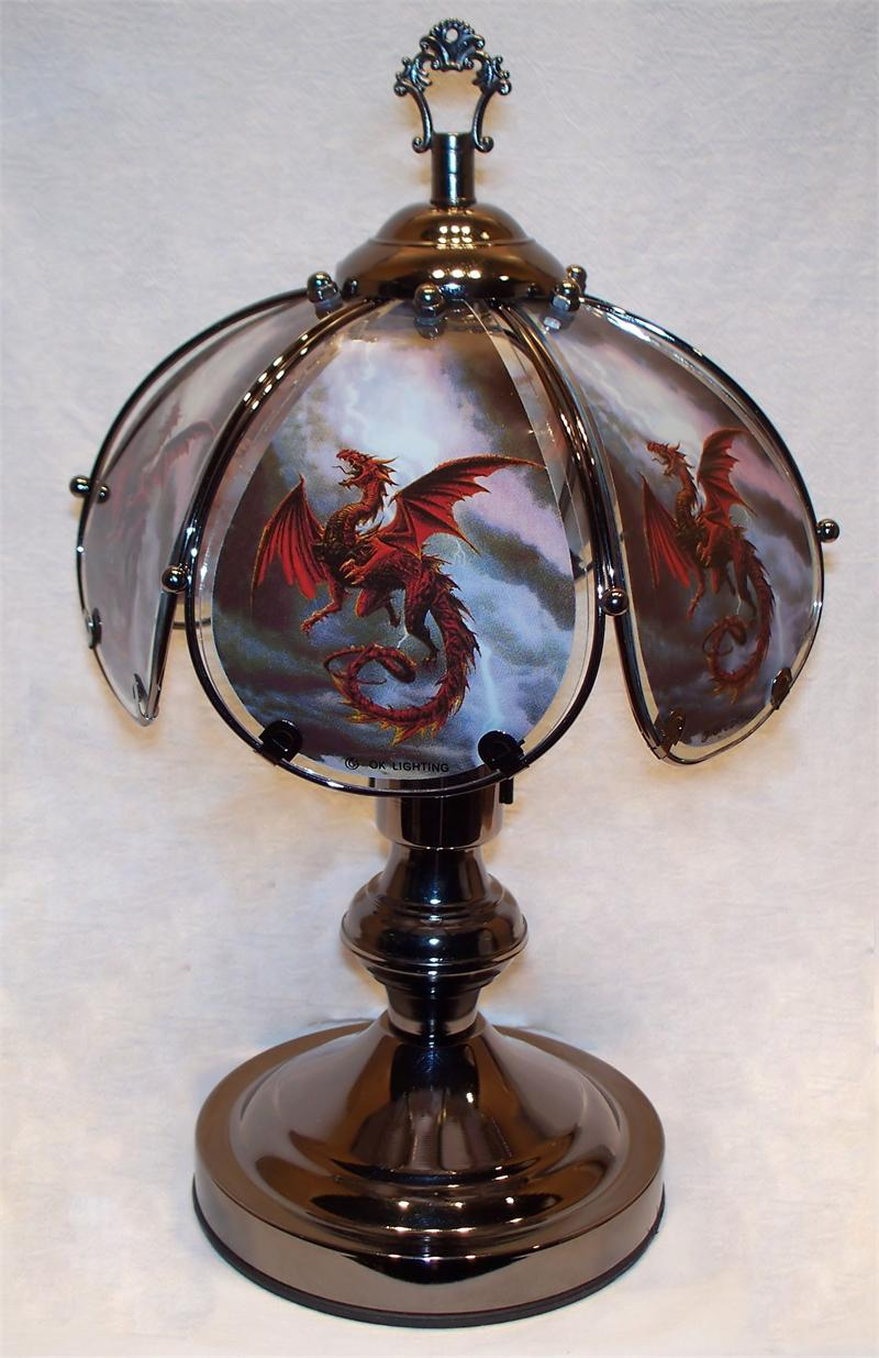 dragon small touch lamp. Black Bedroom Furniture Sets. Home Design Ideas