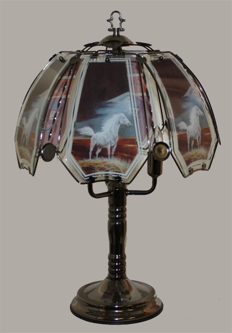 White Horse Touch Lamp