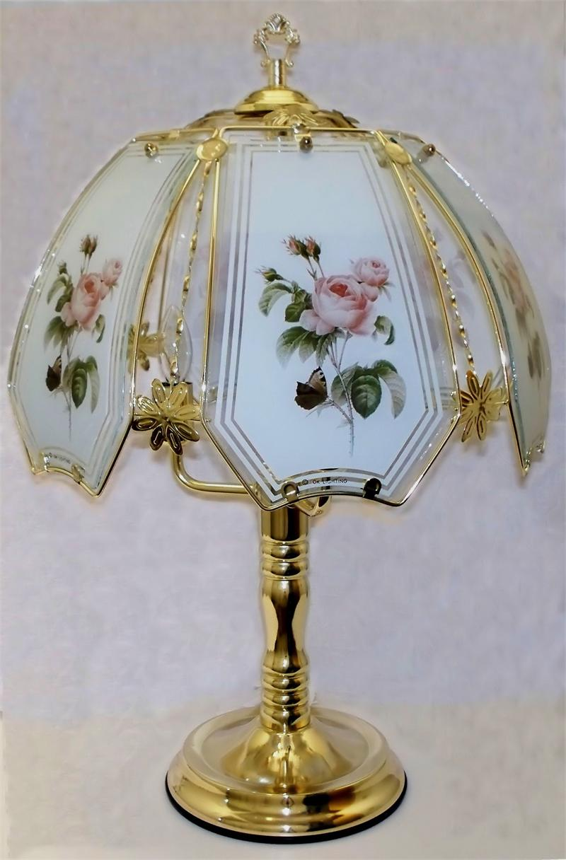 Rose Antique Design Brass Touch Lamp W5