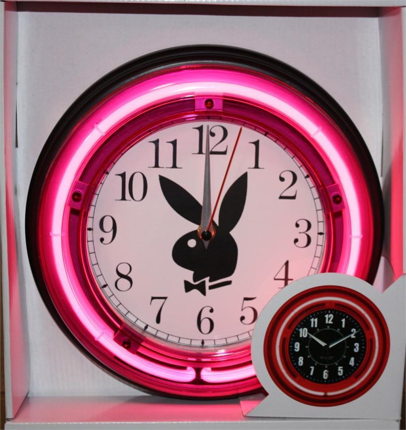 Playboy Bunny Neon Clock