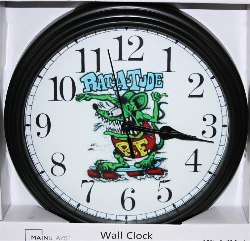 Rat Fink Rat A Tude Non Neon Clock