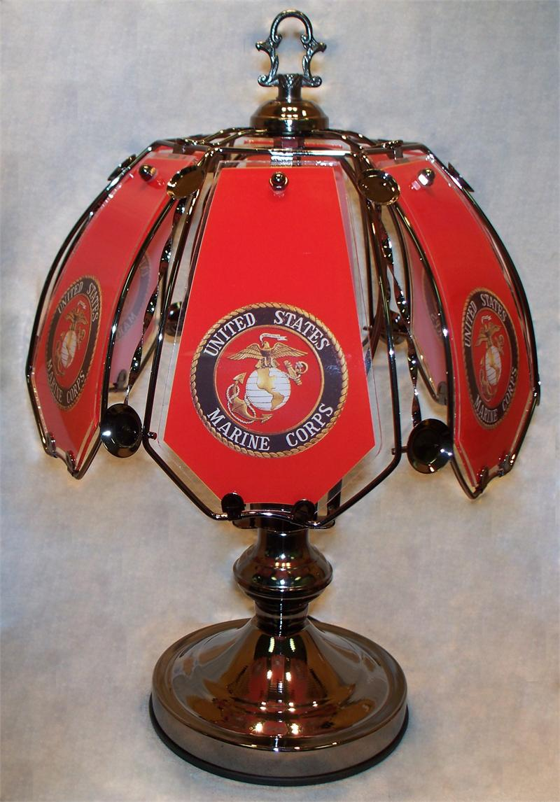 Small Us Marine Corp Touch Lamp