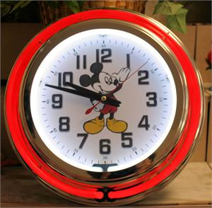 Mickey Mouse Neon Clock