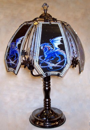 Blue Dragon Touch Lamp